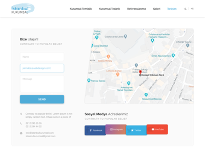 Re-design for Istanbul Kurumsal cleaning company #4 Contact