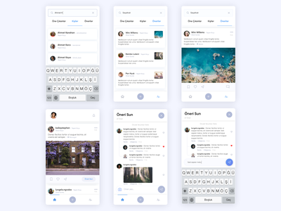 Suggestion App flat ui design clean social project concept ux ui interactive interface mobile app social app search homepage home comment app sugg suggest suggestion