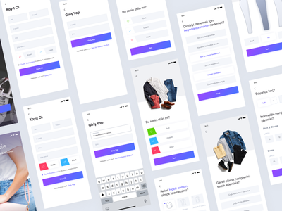 Clothing Style Creation App concept project minimal flat design interface jean ux ui mobile app design app mobile ui e-commerce app ecommerce dresses style clothing design clothes clothing