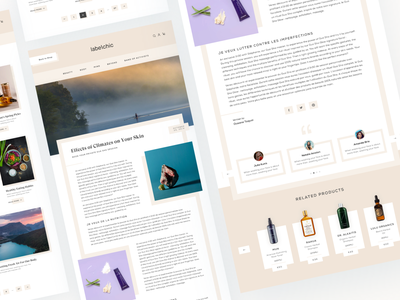 Blog site design for Labelchic detail page beauty cosmetic healthy lifestyle belgium project ui ux e-commerce ecommerce blog website blog design web design minimal blog health ux interface ui design ui