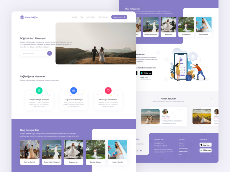 Wedding Planner home web website couple clean homepage layout design project interface ui ux ux ui minimal wedding planner landing page landing planner wedding design wedding