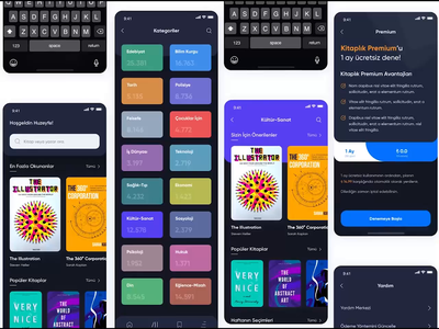 E-Book App dark app bookstore ebook dark clear mobile design minimal mobile ui ui ux ux ui interface reading mobile app mobile design app design app book app book