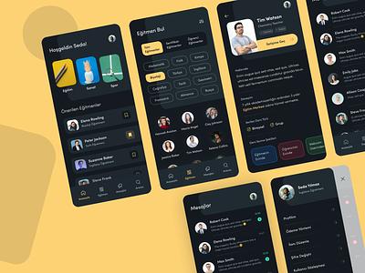 Education App 2020 student teaching dark ui interactive educational ux mobile design project mobile app mobile minimal ui  ux ui interface dark app education app education app design app