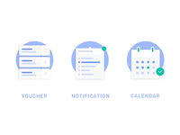 voucher, notification, calendar