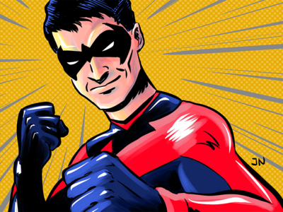 Nightwing Josh comic illustration nightwing