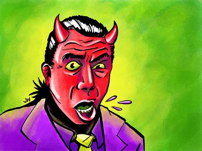 Devil avatar ipad pro illustration procreate devil halloween