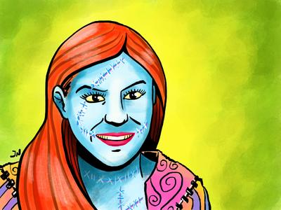 Next Gen Sally halloween avatar procreate ipad pro illustration