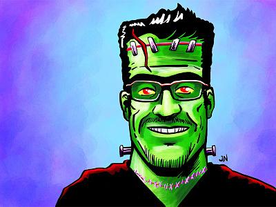 Frankenmarcus ipad pro procreate illustration halloween avatar