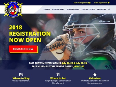 Show-Me State Games Redesign sports homepage