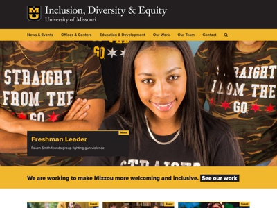 Division of Inclusion, Diversity and Equity edu website mizzou