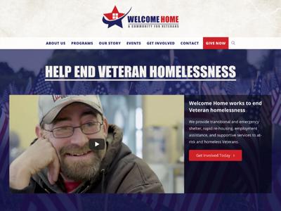 Welcome Home Inc. Redesign design non-profit veterans website