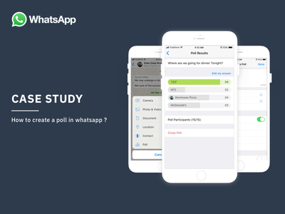 Case study - Whatsapp mobile mobile ui whats data interaction casestudy design