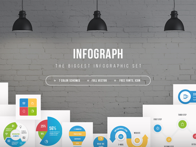 Infographic set - Infograph presentation graphicriver freebie freebies elements vector infographics infographic