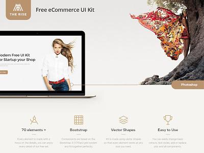 Free eCommerce UI Kit ux psd template web template site elements ui elements web elements ui kit freebie freebies