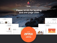 Zipper UI Kit for landing and one page sites