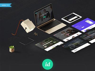 ID-kit - Multipurpose UI Kit cool popular 2017 new trend web elements ui elements ux ui ui kit