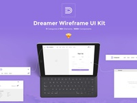 Dreamer Wireframe UI Kit for Sketch App