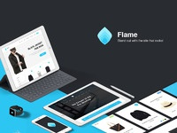 Flame free ui kit for sketch