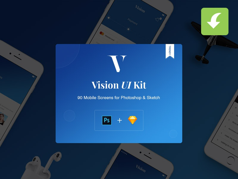 Download Vision Mobile UI Kit for Apps