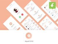 Freebie Aqual Mobile UI Kit for Social Networking Apps