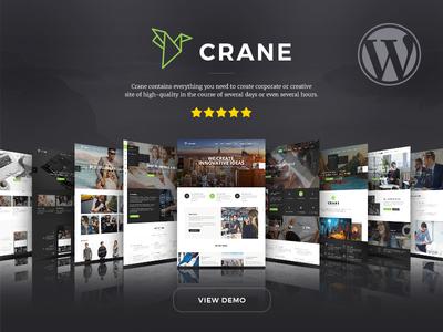 Crane Multipurpose Wordpress Theme new web site ui creative multipurpose ecommerce trendy wordpress theme theme wordpress