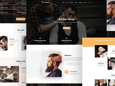 Barbershop theme ui clean 2018 trendy new site barber wordpress theme theme wordpress