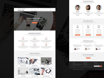 Kreativ Pro web design minimal clean portfolio agency genesis framework wordpress theme template