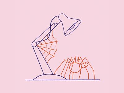 Lamp web spider web desk light headspace head spider growth plant flower lamp
