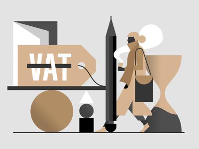 VAT coffee hourglass scarf wintercoat non eu vat