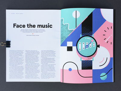 Brummell glockenspiel musical instruments editorial illustration magazine watches brummell
