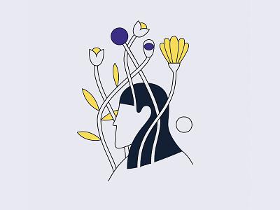 Twilight silhouette flowers head plants