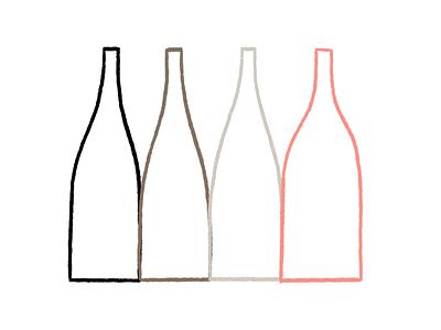 Turning Bottles extended winelabel bird wine label wine bottles