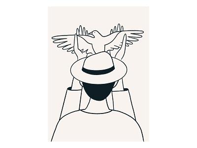 Nowhere Near nowhere flying free hat back holding bird
