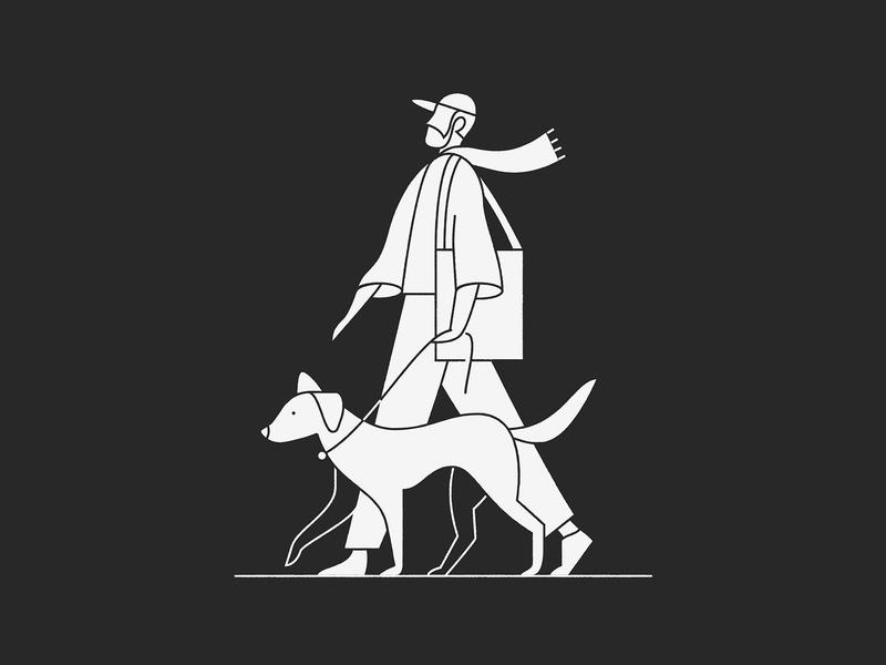 Self portrait walking tote scarf goodboy pet atlas dog
