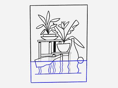 Flooded Room krukje plants bottle objects flood underwater water