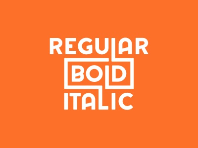 Regular Bold Italic
