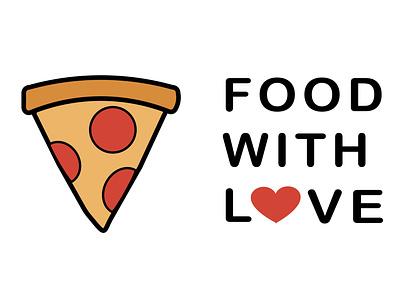 Logotype illustration design pizza vector delivery food branding logo graphic design