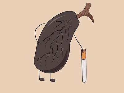 Illustration cigarrets smoke adobe illustrator lungs vector illustration graphic design