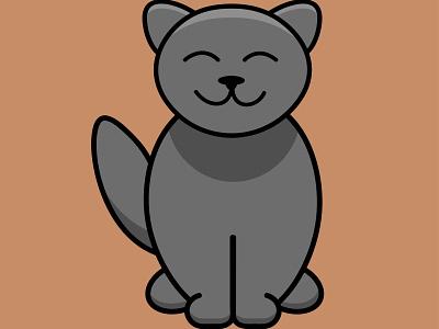 Illustration adobe love nice kitty cat cartoon vector design adobe illustrator illustration cute branding logo graphic design