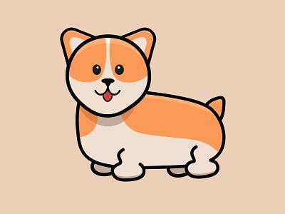 Dog illustration adobe cartoon cute designer illustator white dogs dog logo adobe illustrator design vector illustration graphic design