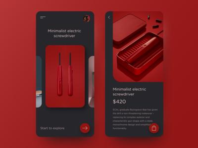 Minimalist Electric Screwdriver