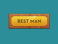 Best Man Plaque