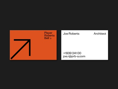 PRB Architects — Cards print minimalism brand identity identity stationary business cards architecture branding logo editorial minimal design contrast colour layout grid typography