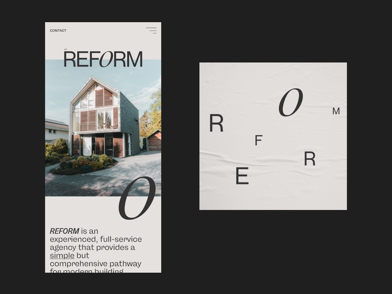 REFORM — Art Direction #2 website ux ui web design typography photography logotype logo layout brand identity identity grid design colour color brand branding architects architecture adobe xd