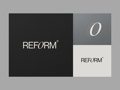 REFORM — Logotype & Motif type brand layout branding and identity ui lettering web design architecture identity brand identity typography motif mark logo logotype colour architects branding