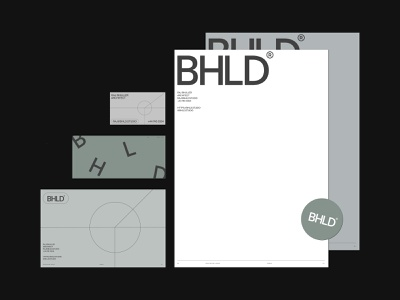 BHLD Architects — Brand minimal print letterhead business cards shapes geometry brand guidelines deck brand identity branding logo design colour layout grid typography ui