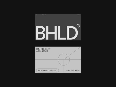 BHLD Architects — Cards branding illustration shapes geometry type deck brand presentation brand idenity print cards business cards logo design layout grid typography ui