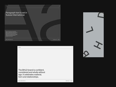 BHLD Architects — Identity deck presentation type cards idenity branding brand logo illustration design colour layout grid typography ui