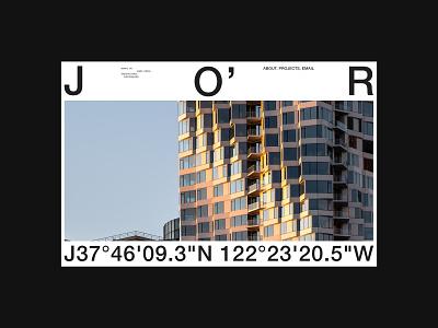 Jason O'Rear — Exploration photographer photoghaphy graphic design type architecture minimal logo design website colour ux layout grid typography ui web design figma