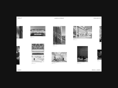 Jason O'Rear — Grid Experiment visual design type architects figma minimal editorial photographer photography portfolio architecture web design logo design website colour layout ui ux grid typography